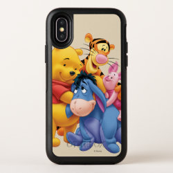 Winnie the Pooh, Tigger, Eeyore and Piglet Group Photo OtterBox Apple iPhone X Symmetry Case
