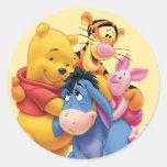 Pooh & Friends 5 Round Stickers