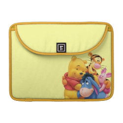 Macbook Pro 13' Flap Sleeve with Winnie the Pooh, Tigger, Eeyore and Piglet Group Photo design