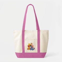 Impulse Tote Bag with Winnie the Pooh, Tigger, Eeyore and Piglet Group Photo design