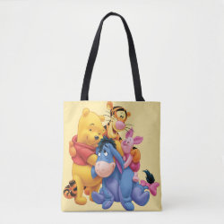 All-Over-Print Tote Bag, Medium with Winnie the Pooh, Tigger, Eeyore and Piglet Group Photo design