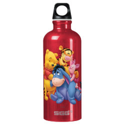SIGG Traveller Water Bottle (0.6L) with Winnie the Pooh, Tigger, Eeyore and Piglet Group Photo design
