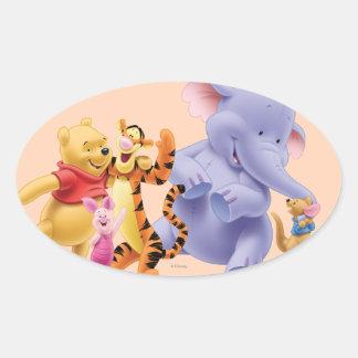 Pooh & Friends 6 Oval Sticker