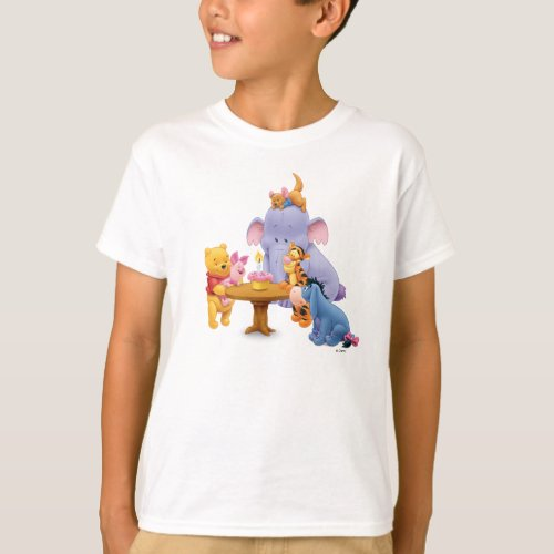 Pooh  Friends Birthday T_Shirt