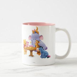 Pooh & Friends Birthday Two-Tone Coffee Mug
