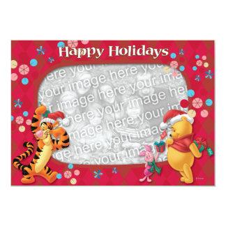 Pooh & Friends: Happy Holidays Greeting Card Custom Invitations