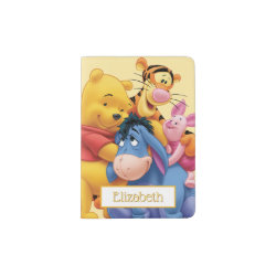 Passport Holder with Winnie the Pooh, Tigger, Eeyore and Piglet Group Photo design