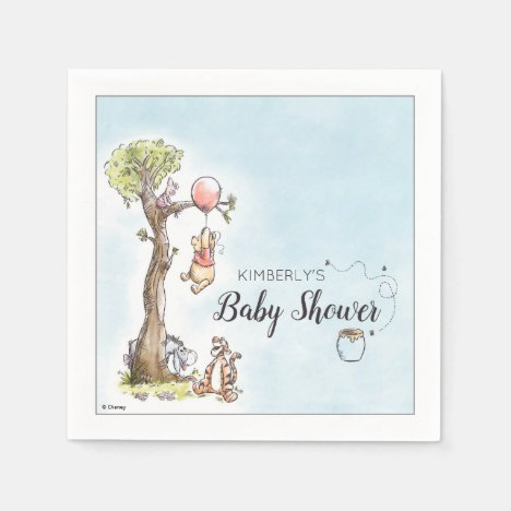 Pooh & Friends Watercolor   Baby Shower Napkins