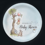 "Pooh & Friends Watercolor | Baby Shower Paper Plate<br><div class=""desc"">Celebrate you Winnie the Pooh themed Baby Shower with these sweet Pooh and Friends watercolor paper plates. Personalize by adding your name or party details.</div>"