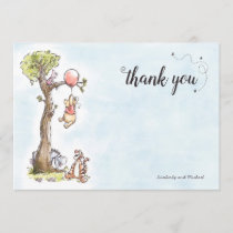 Pooh & Friends Watercolor | Baby Shower Thank You