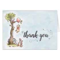 Pooh & Friends Watercolor   Baby Shower Thank You