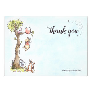 Pooh & Friends Watercolor | Baby Shower Thank You Card
