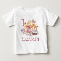 Pooh & Friends Watercolor | First Birthday Baby T-Shirt