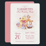 "Pooh &amp; Friends Watercolor | First Birthday Invitation<br><div class=""desc"">Invite all your family and friends to your child&#39;s Winnie the Pooh themed Birthday Party with these sweet birthday invitations.</div>"