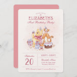 """Pooh & Friends Watercolor   First Birthday Invitation<br><div class=""""desc"""">Invite all your family and friends to your child's Winnie the Pooh themed Birthday Party with these sweet birthday invitations.</div>"""