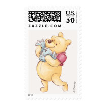 Pooh & Friends Watercolor | First Birthday Postage