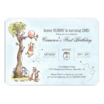Pooh & Friends Watercolor Tree | First Birthday Card