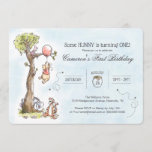 """Pooh & Friends Watercolor Tree   First Birthday Invitation<br><div class=""""desc"""">Invite all your family and friends to your child's Winnie the Pooh themed First Birthday with these sweet invitations.</div>"""