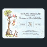 "Pooh & Friends Watercolor Tree | First Birthday Invitation<br><div class=""desc"">Invite all your family and friends to your child's Winnie the Pooh themed First Birthday with these sweet invitations.</div>"