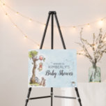 """Pooh & Friends Watercolor Welcome Baby Shower Foam Board<br><div class=""""desc"""">Welcome your guests with this sweet Winnie the Pooh Baby Shower Welcome sign. Personalize by adding your name or custom text.</div>"""