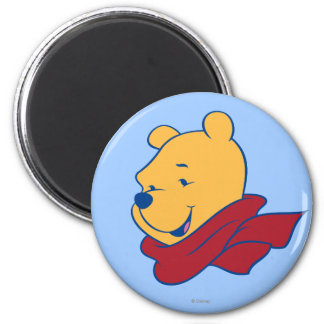 Pooh in Red Scarf 2 Inch Round Magnet