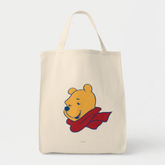 Pooh in Red Scarf Canvas Bag