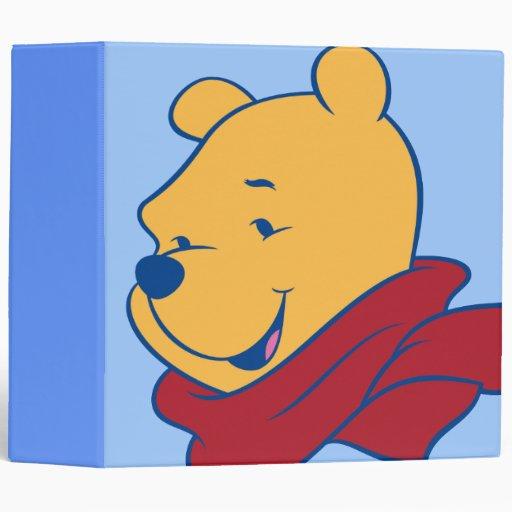 Pooh in Red Scarf Vinyl Binders
