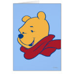 Pooh in Red Scarf Card