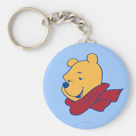 Pooh in Red Scarf Keychain