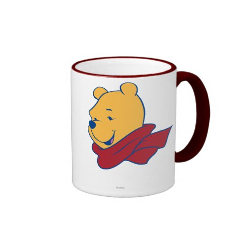 Pooh in Red Scarf Mugs