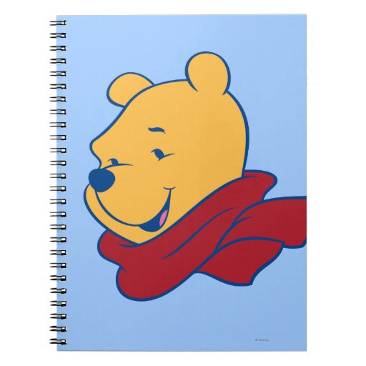 Pooh in Red Scarf Spiral Note Book