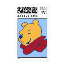 Pooh in Red Scarf Postage