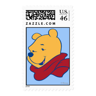 Pooh in Red Scarf Postage Stamps