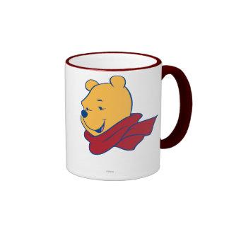 Pooh in Red Scarf Ringer Mug