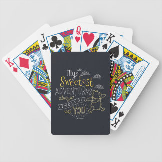 Pooh | My Sweetest Adventures Bicycle Playing Cards