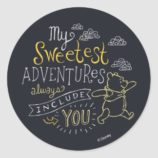 Pooh | My Sweetest Adventures Classic Round Sticker