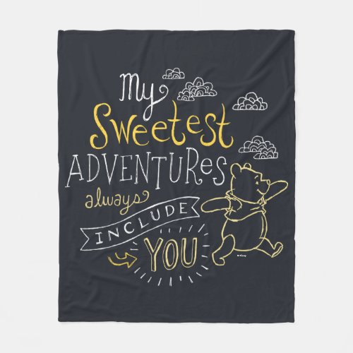 Pooh | My Sweetest Adventures Fleece Blanket