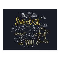 Pooh   My Sweetest Adventures Postcard