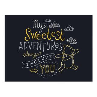Pooh | My Sweetest Adventures Postcard