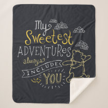 Pooh | My Sweetest Adventures Sherpa Blanket