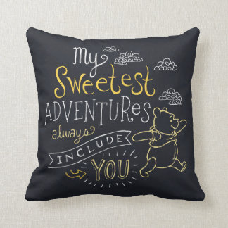 Pooh | My Sweetest Adventures Throw Pillow
