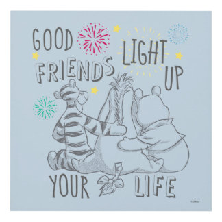 Pooh & Pals | Friends Light Up Your Life Panel Wall Art