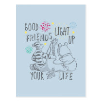 Pooh & Pals | Friends Light Up Your Life Postcard