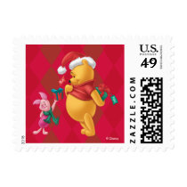 Pooh & Pals Holiday Winnie the Pooh and Piglet Postage