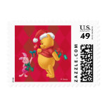 Pooh & Pals Holiday Winnie the Pooh and Piglet Postage Stamp