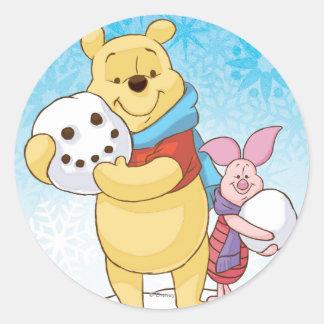 Pooh & Piglet Classic Round Sticker