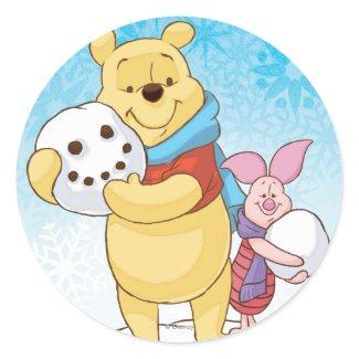 Pooh & Piglet Round Sticker