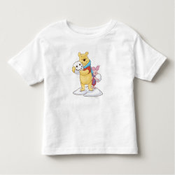 Toddler Fine Jersey T-Shirt with Cute Winter Winnie the Pooh and Piglet in the Snow design