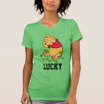 Pooh Playing in a Shamrock Patch T-Shirt