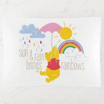 Pooh | Sun & Rain Brings Rainbows Quote Trinket Trays